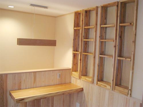 自然素材 テーブル・収納棚