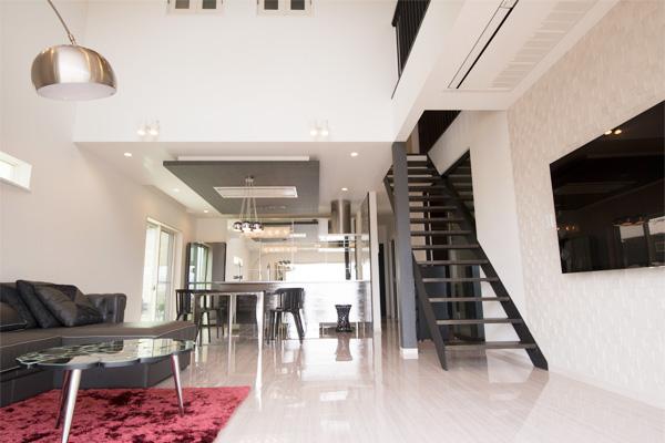家の性能 リビング内階段